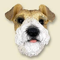 Wire Fox Terrier Red Magnet