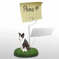 Bull Terrier Brindle Memo Holder