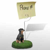 Doberman Pinscher Black w/Uncropped Ears Memo Holder