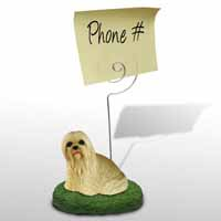 Lhasa Apso Blonde Memo Holder