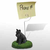 Schnauzer Black Memo Holder