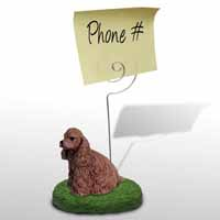 Cocker Spaniel Brown Memo Holder