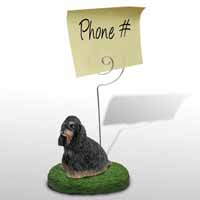 Cocker Spaniel Black & Tan Memo Holder