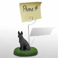 Great Dane Black Memo Holder
