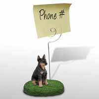 Doberman Pinscher Black w/Cropped Ears Memo Holder