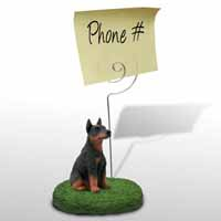 Doberman Pinscher Red w/Cropped Memo Holder