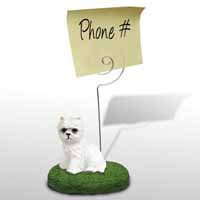 West Highland Terrier Memo Holder