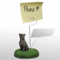 Staffordshire Bull Terrier Brindle Memo Holder