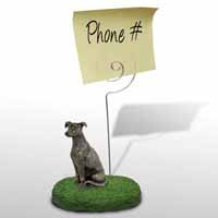 Greyhound Brindle Memo Holder