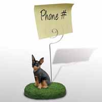 Miniature Pinscher Tan & Black Memo Holder
