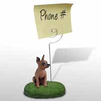 Miniature Pinscher Red & Brown Memo Holder