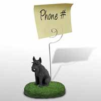 Schnauzer Giant Black Memo Holder