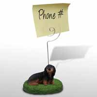 Dachshund Longhaired Black Memo Holder