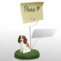 Cavalier King Charles Spaniel Brown & White Memo Holder