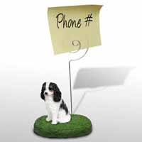 Cavalier King Charles Spaniel Black & White Memo Holder