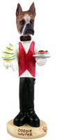 Boxer Brindle Waiter Doogie Collectable Figurine