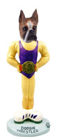 Boxer Brindle Wrestler Doogie Collectable Figurine