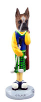 Boxer Brindle Golf Doogie Collectable Figurine