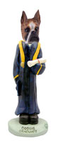 Boxer Brindle Graduate Doogie Collectable Figurine