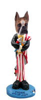 Boxer Brindle 4th of July Doogie Collectable Figurine