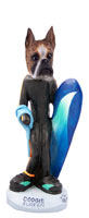 Boxer Brindle Surfer Doogie Collectable Figurine