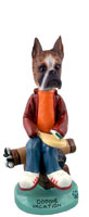 Boxer Brindle Vacation Doogie Collectable Figurine