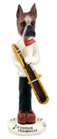 Boxer Brindle Trombonist Doogie Collectable Figurine
