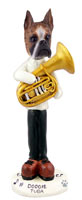 Boxer Brindle Tuba Doogie Collectable Figurine