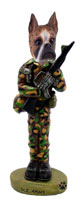 Boxer Brindle U.S. Army Doogie Collectable Figurine