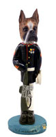 Boxer Brindle U.S. Marines Doogie Collectable Figurine
