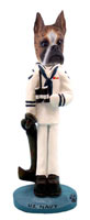 Boxer Brindle U.S. Navy Doogie Collectable Figurine