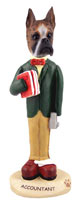Boxer Brindle Accountant Doogie Collectable Figurine