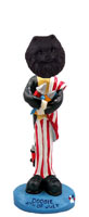 Pomeranian Black 4th of July Doogie Collectable Figurine
