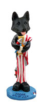 German Shepherd Black 4th of July Doogie Collectable Figurine