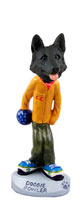 German Shepherd Black Bowler Doogie Collectable Figurine
