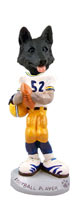 German Shepherd Black Football Player Doogie Collectable Figurine