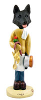 German Shepherd Black Chef Doogie Collectable Figurine