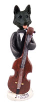 German Shepherd Black Bassist Doogie Collectable Figurine