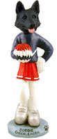 German Shepherd Black Cheerleader Doogie Collectable Figurine