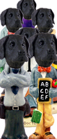 Great Dane Black w/Uncropped Ears Doogie Characters