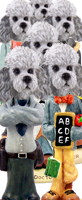 Poodle Gray w/Sport Cut Doogie Characters