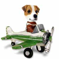 Jack Russell Terrier Airplane Doogie Collectable Figurine