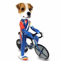 Jack Russell Terrier Bicycle Doogie Collectable Figurine