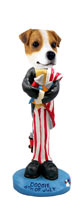 Jack Russell Terrier 4th of July Doogie Collectable Figurine