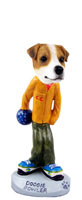 Jack Russell Terrier Bowler Doogie Collectable Figurine