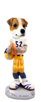 Jack Russell Terrier Football Player Doogie Collectable Figurine