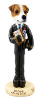 Jack Russell Terrier Airline Pilot Doogie Collectable Figurine