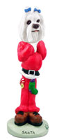 Maltese Santa Doogie Collectable Figurine
