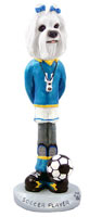Maltese Soccer Doogie Collectable Figurine
