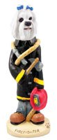 Maltese Fireman Doogie Collectable Figurine